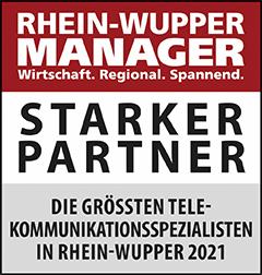 Siegel: STARKER PARTNER - Die größten Telekommunikations-Spezialisten in Rhein-Wupper