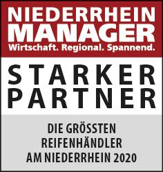 Siegel: STARKER PARTNER - Die größten Reifenhändler am Niederrhein